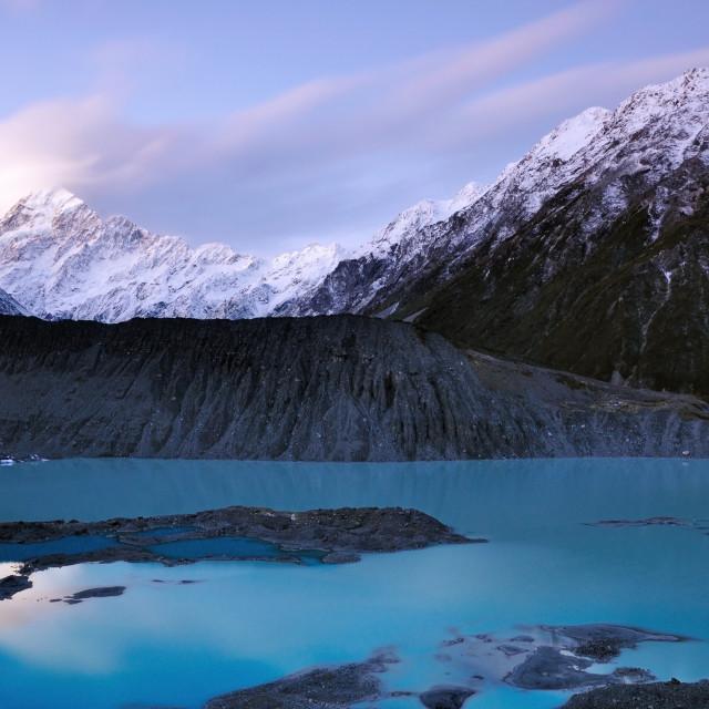 """""""Aoraki Mount Cook National Park New Zealand"""" stock image"""