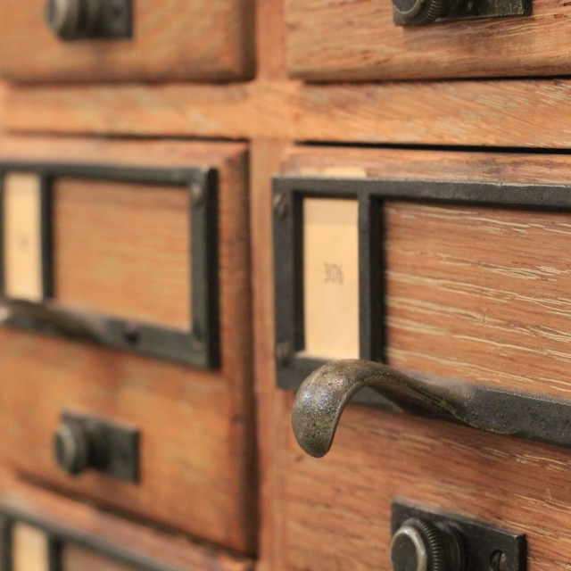 """""""Library index card drawers"""" stock image"""