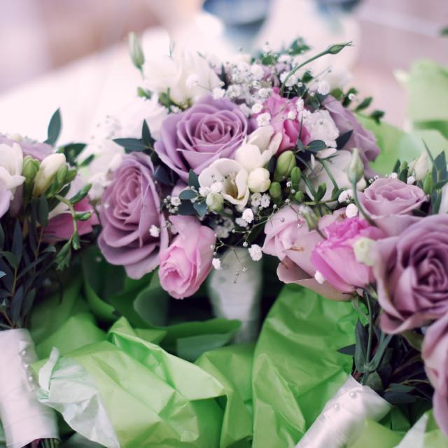 """Wedding bouquets"" stock image"