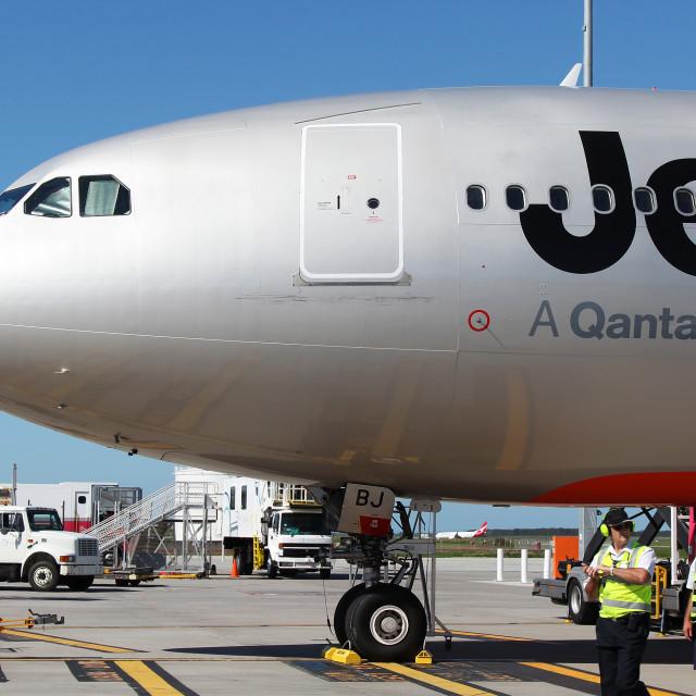 """Jetstar Australia"" stock image"