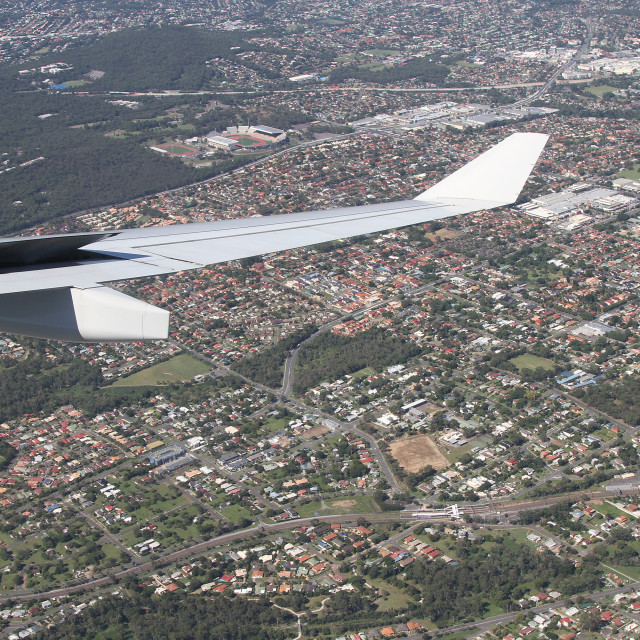 """Descending Over Australia"" stock image"