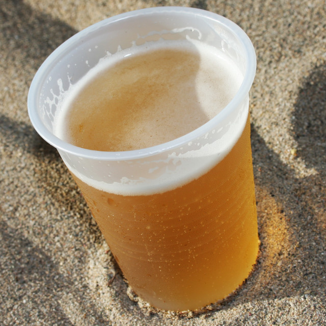 """""""Drinks on the Beach"""" stock image"""