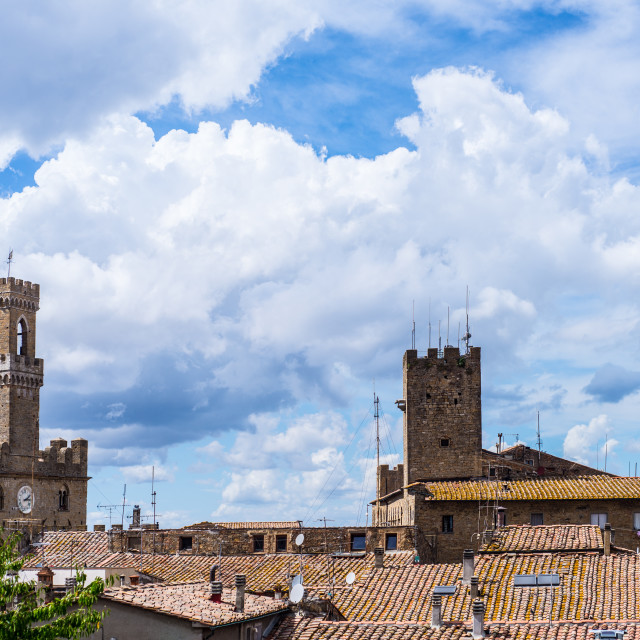 """view of Volterra"" stock image"