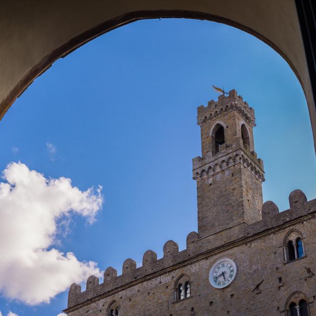 """""""Volterra, Palazzo dei Priori"""" stock image"""