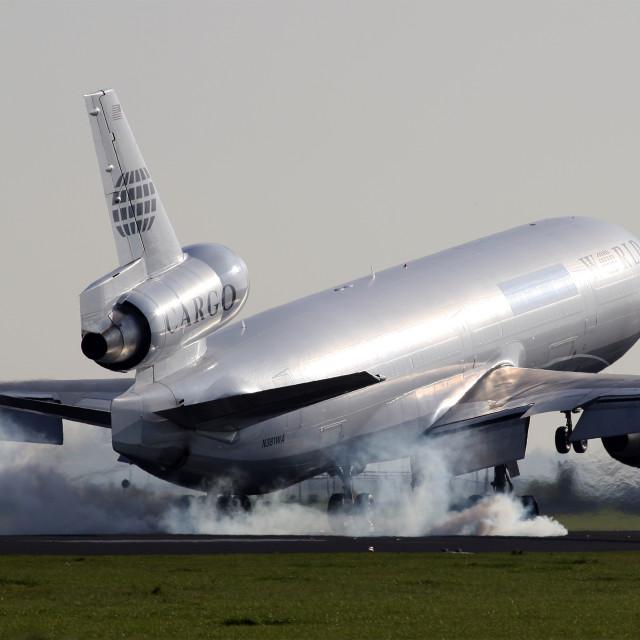 """""""Hard Landing"""" stock image"""