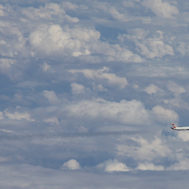 """British Airways Boeing 767"" stock image"