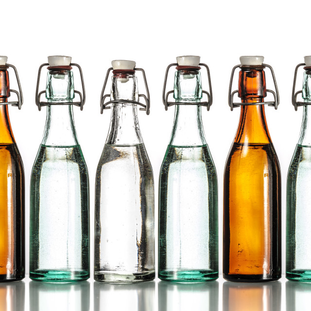 """Old bottles"" stock image"