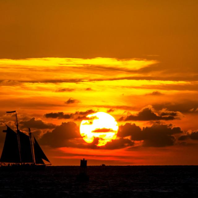 """""""Sunset at Key West"""" stock image"""