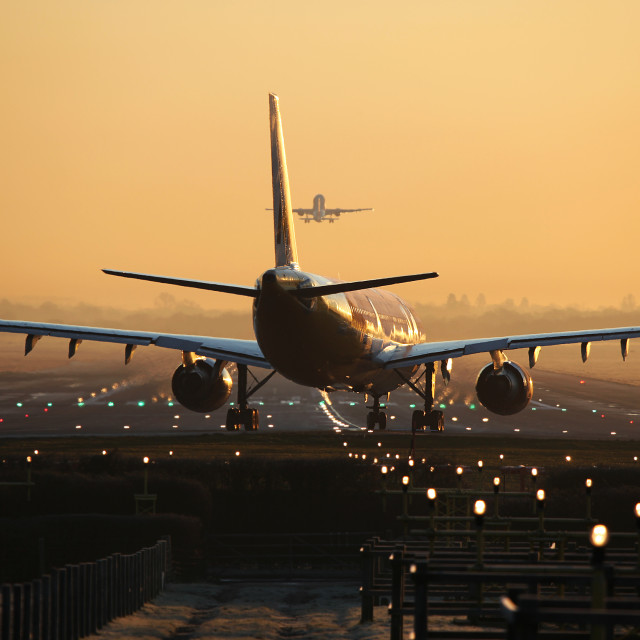 """Sunrise Departures"" stock image"