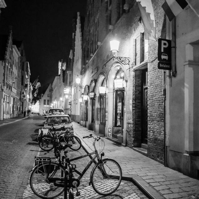 """""""Bruges nights"""" stock image"""