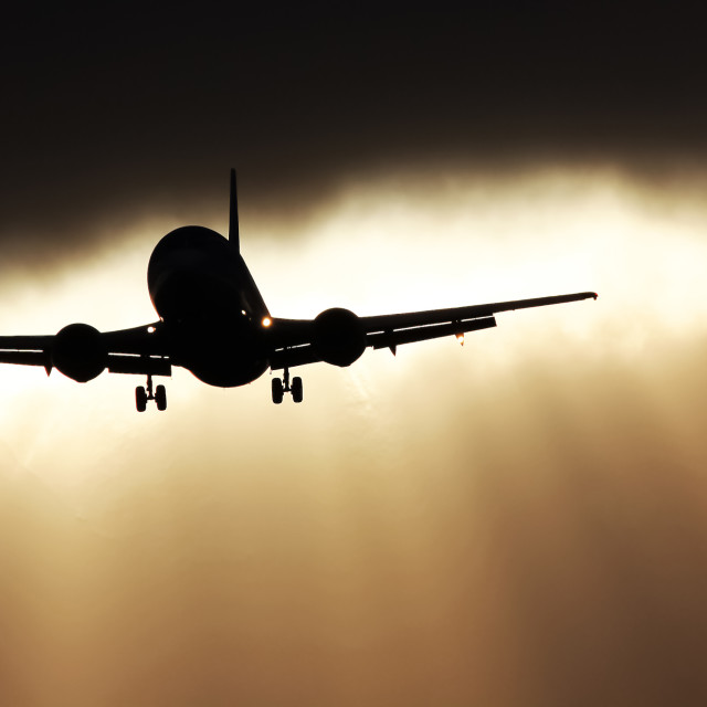 """Sunrise Landing"" stock image"