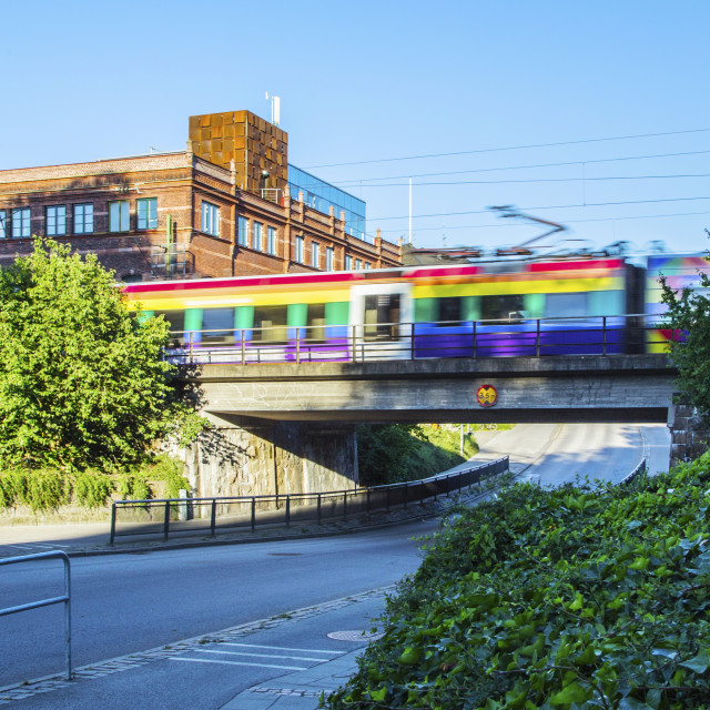 """Colourful train"" stock image"