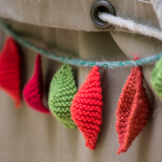 """Knitted decorations"" stock image"