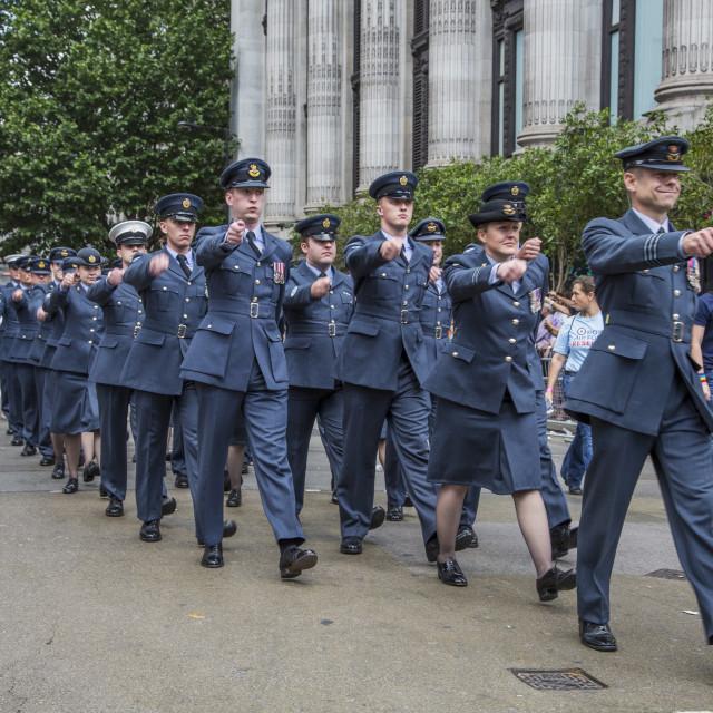 """""""Military At London Gay Pride Parade"""" stock image"""