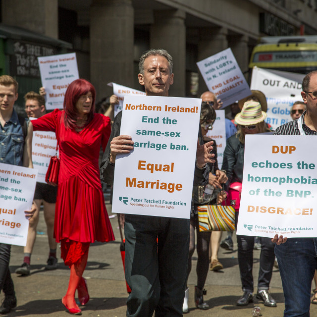 """""""Peter Tatchell At London Gay Pride"""" stock image"""