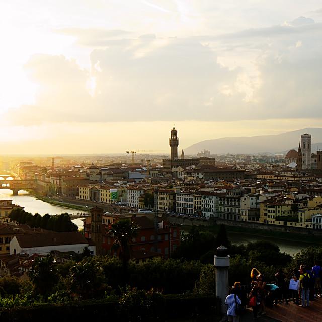 """""""Florence Skyline & Sunset"""" stock image"""