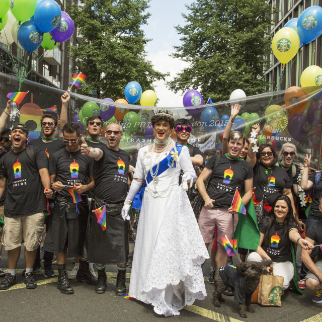 """""""The Queen At Pride"""" stock image"""
