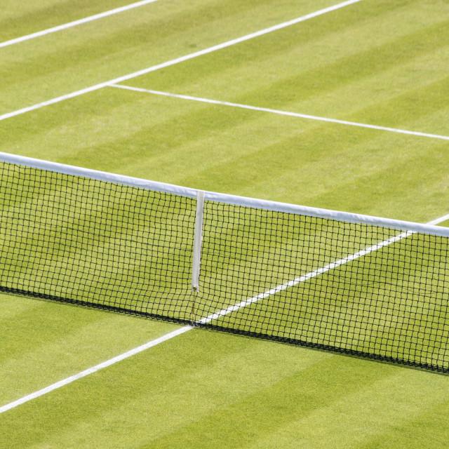 """Grass Tennis Court"" stock image"