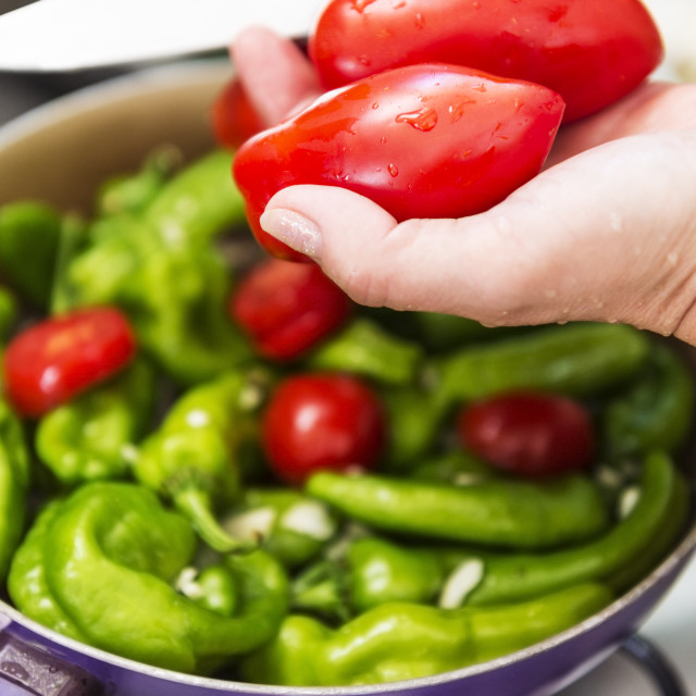 """peppers and tomatoes"" stock image"