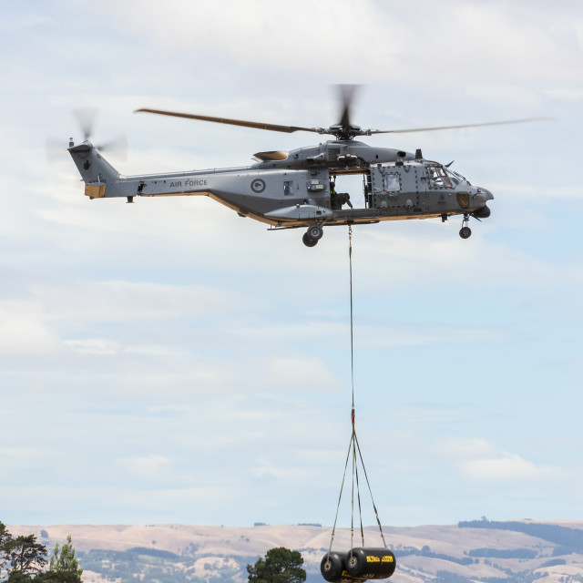 """NH90 helicopter lifting"" stock image"