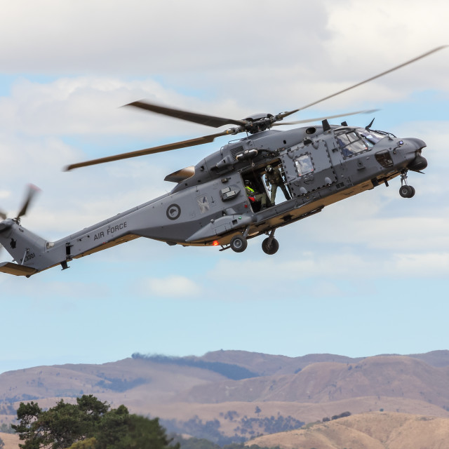 """""""NH90 helicopter airborne"""" stock image"""