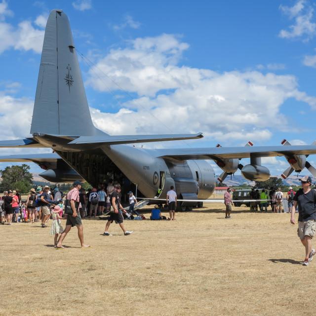 """C-130 Hercules"" stock image"