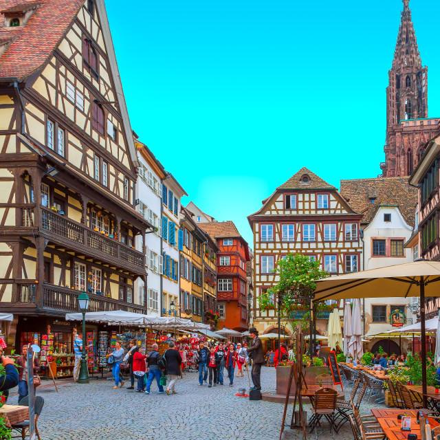 """Street of Strasbourg"" stock image"