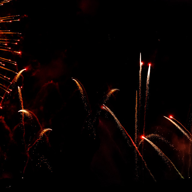 """Fireworks Display of Iklin"" stock image"