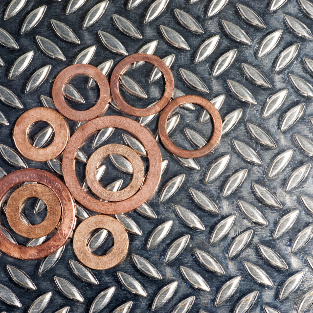 """""""Copper washers"""" stock image"""