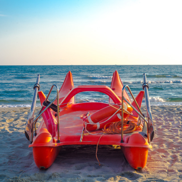 """lifeguard boat"" stock image"