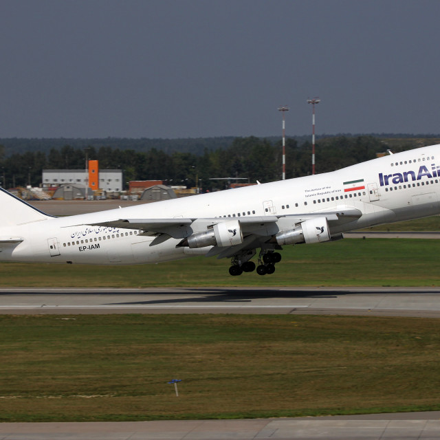 """Iran Air Boeing 747"" stock image"