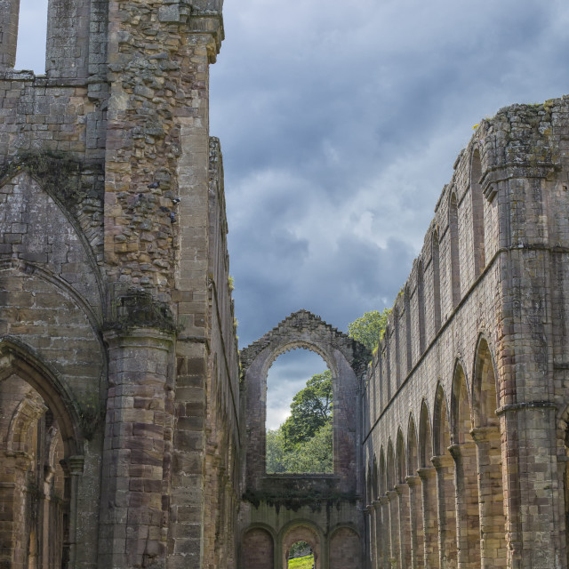 """""""Fountains Abbey"""" stock image"""