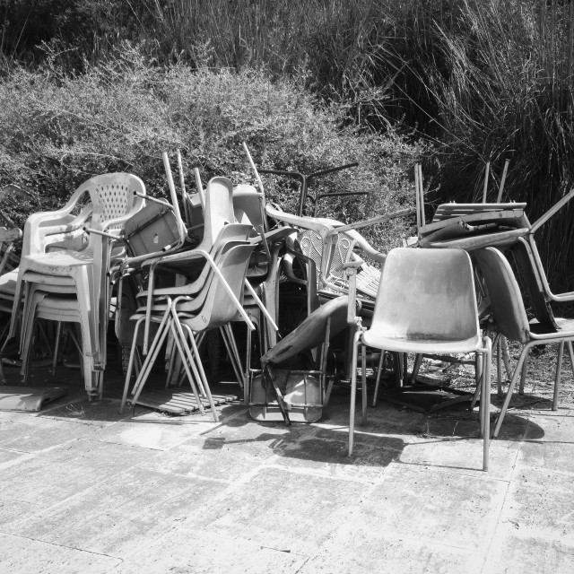 """""""A bunch of chairs"""" stock image"""