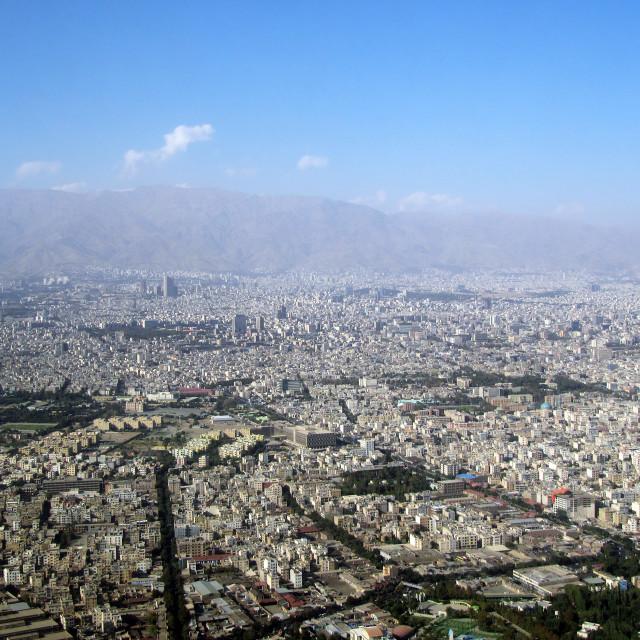 """Tehran, Iran Overview"" stock image"