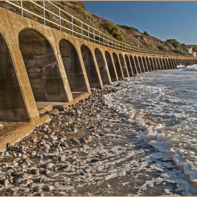 """FOLKESTONE SEA FRONT"" stock image"