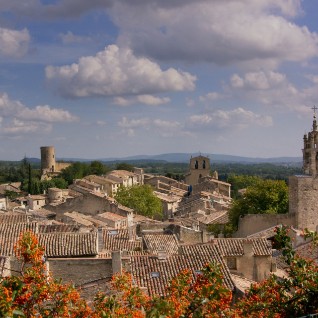 """View of Cucuron, France"" stock image"