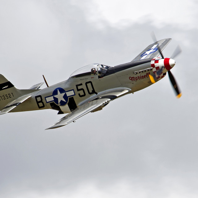 """North American P51 Mustang"" stock image"