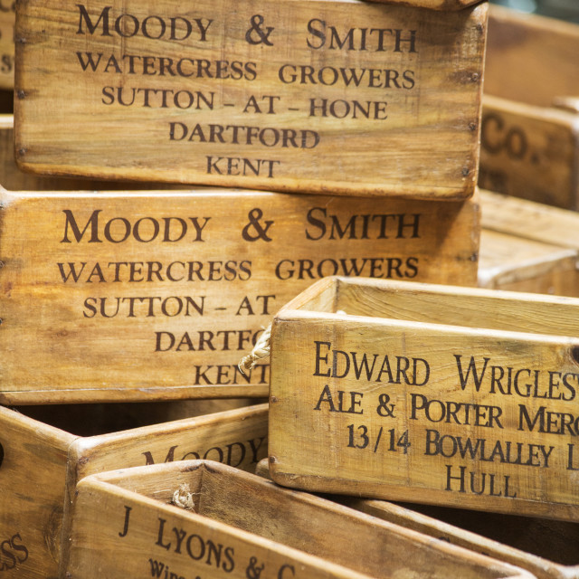 """Antique Wooden Boxes"" stock image"