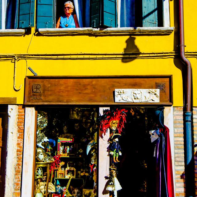 """Venice Mask Shop"" stock image"