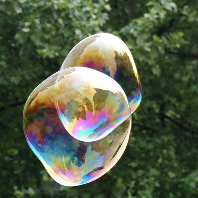 """Giant Soap bubbles"" stock image"
