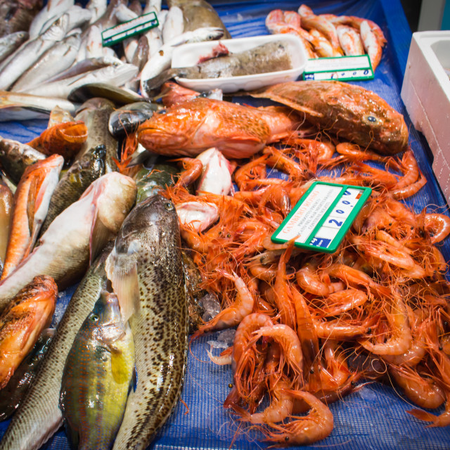 """""""A typical fish market in sicily"""" stock image"""