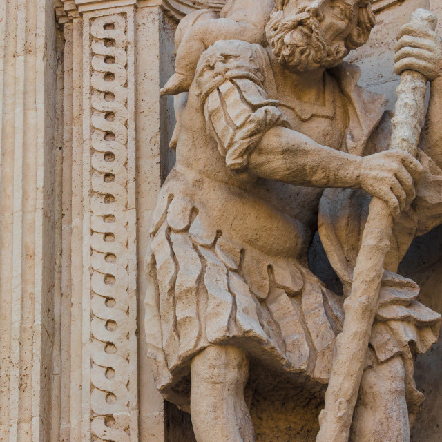 """Historic center San Sebastinao Church baroque architecture"" stock image"