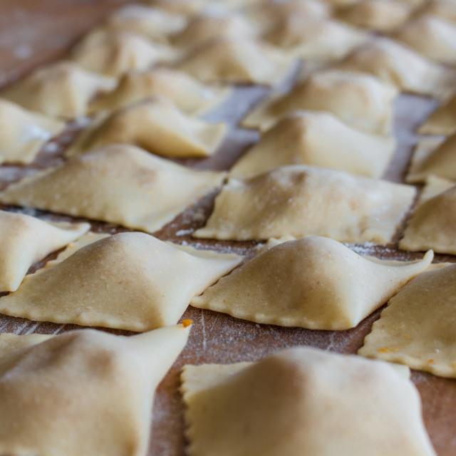 """The handmade ravioli"" stock image"