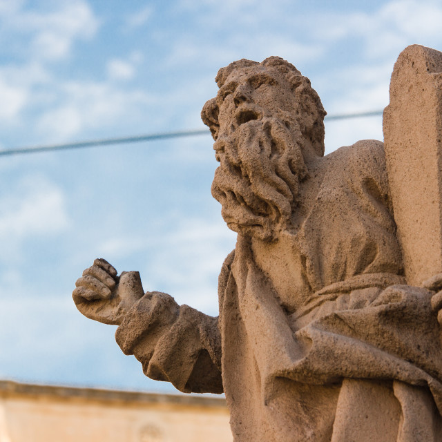 """Italy: Moses' statue"" stock image"