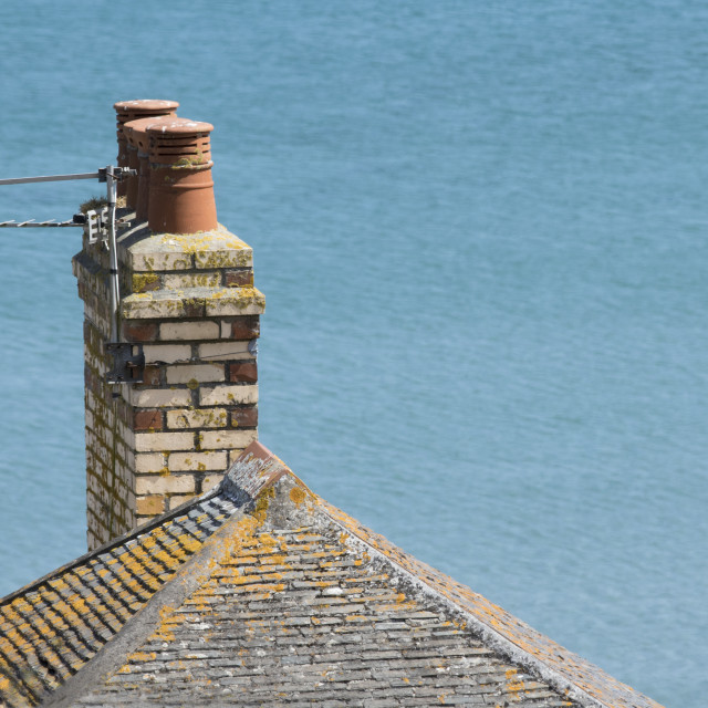 """Chimney Pots"" stock image"