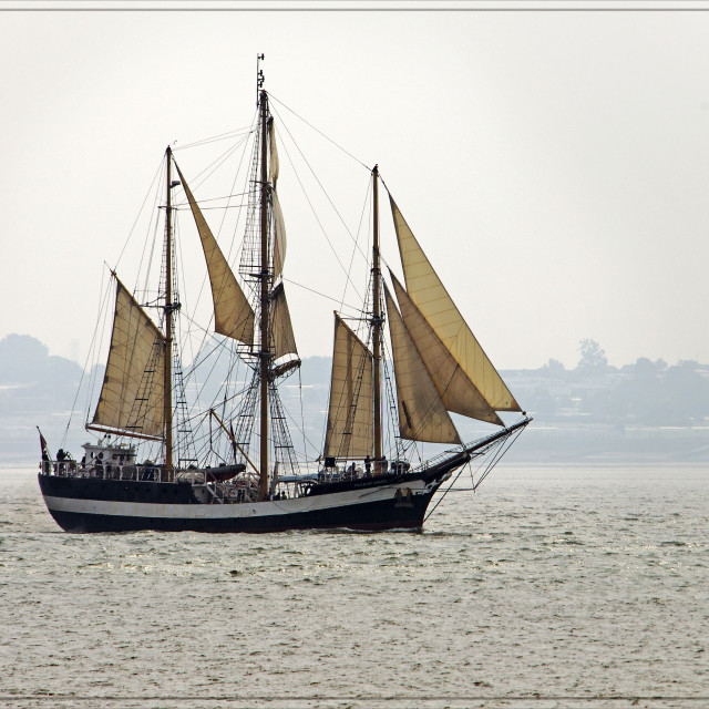 """Tall Ship (Pelican of London)"" stock image"