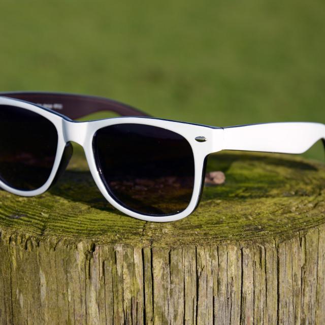 """Wayfarer Sunglasses"" stock image"
