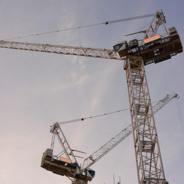 """London Cranes"" stock image"