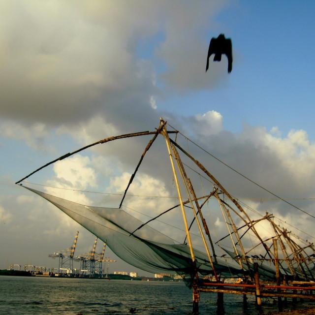 """Chinese Fishing Net"" stock image"