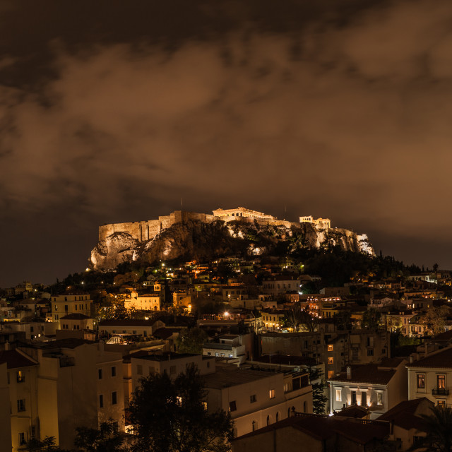 """Athens at Night"" stock image"
